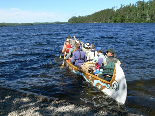 The paddlers of Leg D leave Ely on July 10, bound for the Gunflint Trail