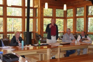 Bruce Kerfoot of Gunflint Lodge presents at HOCP, October 2013
